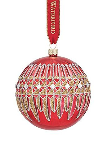 Waterford Lismore Diamond Red Ball Ornament