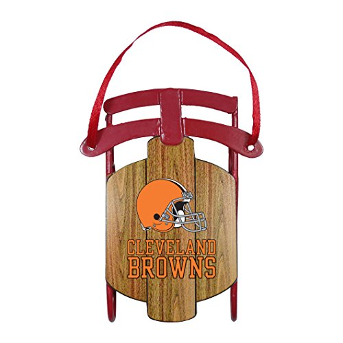 Cleveland Browns – NFL Official 3.5″ Metal Sled Ornament
