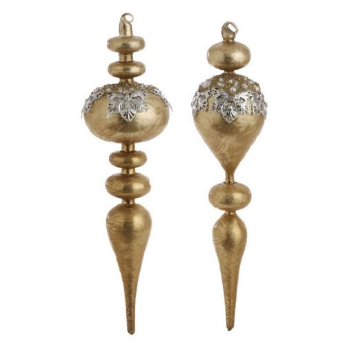 RAZ Imports – Beaded Finial Ornaments 14″