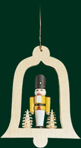 Hanging Christmas Tree Bell Shaped Ornament Soldier, 3.4 Inches