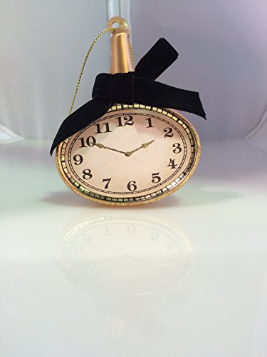 Glass Clock Christmas Ornament