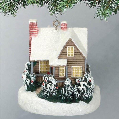 Thomas Kinkade Ornament Christmas Cottage 2007 Lighs Up
