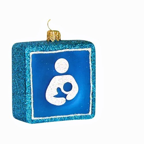 Ornaments to Remember: NATIONAL BREASTFEEDING SYMBOL Christmas Ornament