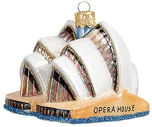 Sydney Opera House Australia Mini Polish Mouth Blown Glass Christmas Ornament