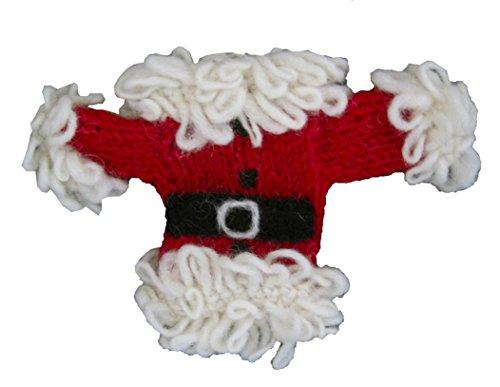 """Santa"" 100% Wool Ornaments – Certified Fair Trade- Made in Nepal (Santa Sweater)"
