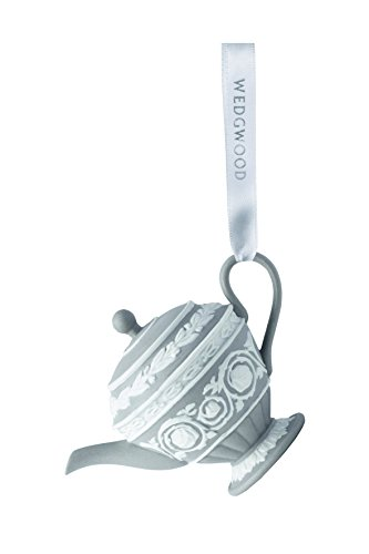 Wedgwood Iconic Teapot Christmas Ornament, Grey