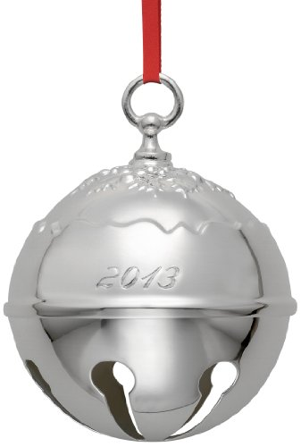 Reed & Barton Holly Bell 2013 Christmas Ornament, 3-3/4-Inch