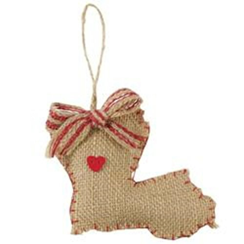 Mud Pie Burlap Louisiana Ornament