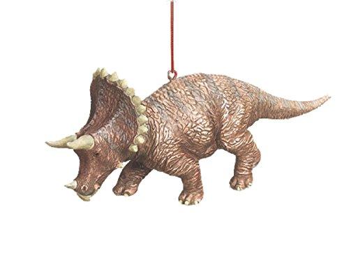 Triceratops Jurassic Dinosaur Resin Stone Christmas Tree Ornament