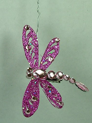 Pink Dragonfly Bug Insect Wing Christmas Tree Ornament One Hundred 80 Degrees