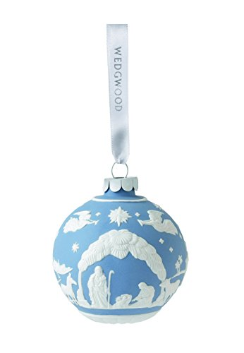 Wedgwood Nativity Christmas Ornament, Blue