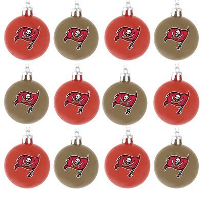 NFL Ball Ornament (Set of 12) NFL Team: Tampa Bay Buccaneers