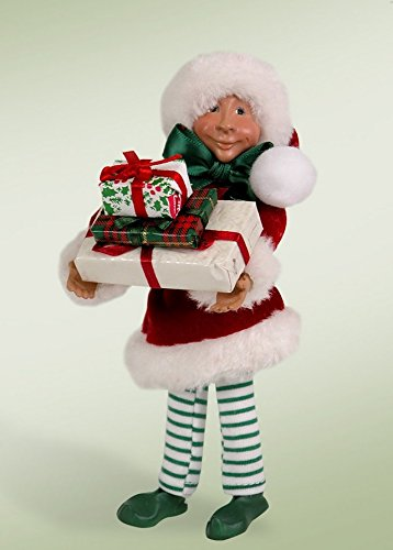 "7″ Kindles ""Wraps with Presents"" Poseable Elf Christmas Figure"