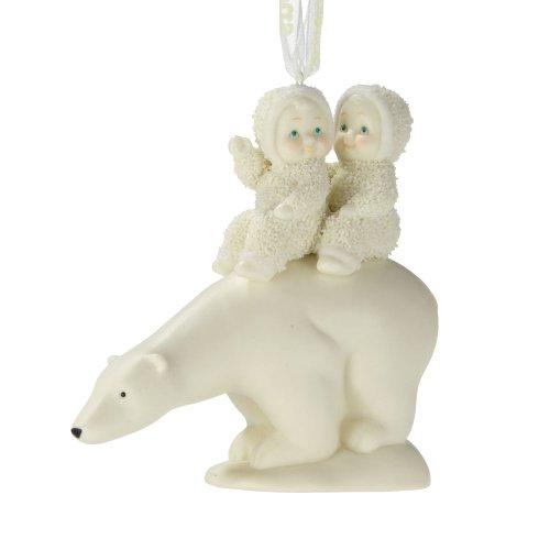 Department 56 Snowbabies by Kristi Jensen Pierro Polar Bear Trek Ornament, 3.54-Inch