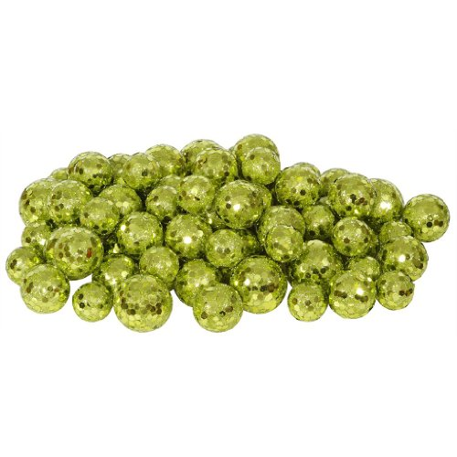 Vickerman 32955 – 20-25-30MM Lime Glitter Ball Christmas Ornament (68-72 pack) (L132213)
