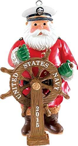 Carlton Heirloom Ornament 2015 Navy Santa – #CXOR030H