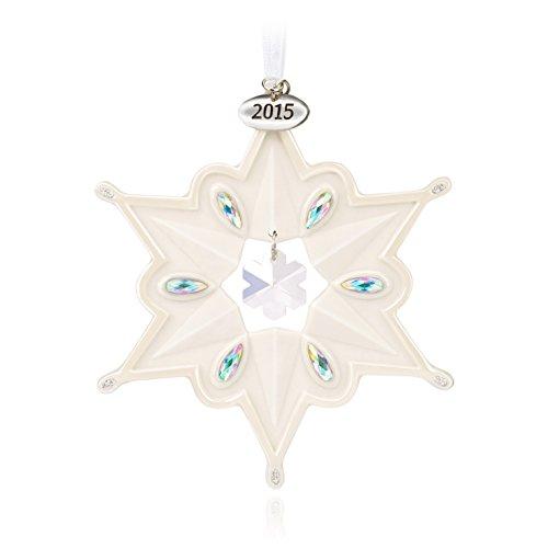 Hallmark Keepsake Ornament: Porcelain Snowflake with Rhinestones