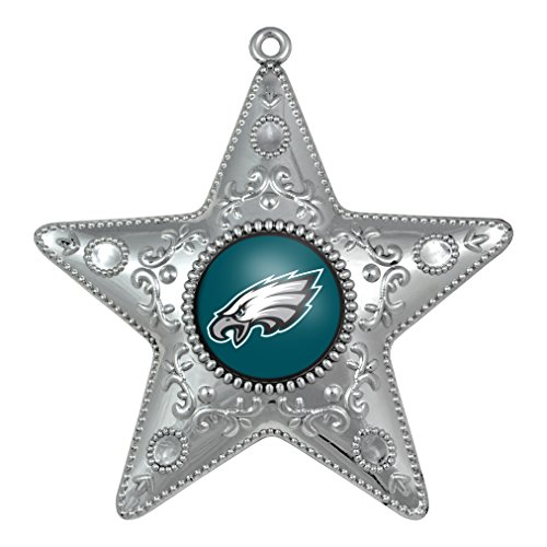 Philadelphia Eagles – NFL Official 4.5″ Silver Star Ornament