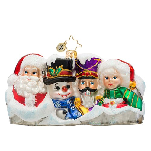 Christopher Radko Glass Seasonal Landmark Mount Rushmore Christmas Ornament #1017485