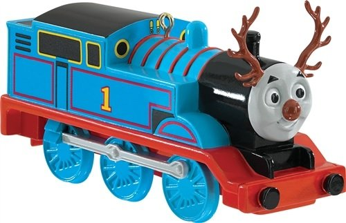 3.75″ Carlton Cards Heirloom Thomas the Tank Engine with Antlers Christmas Ornament