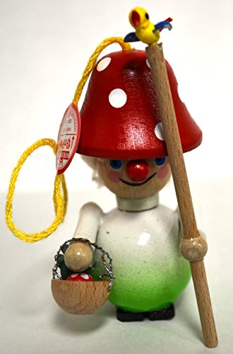 Steinback Handmade German Wooden Ornament (Mushroom Hat)