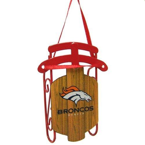 NFL Denver Broncos Metal Sled Ornament by Topperscot by Boelter Brands
