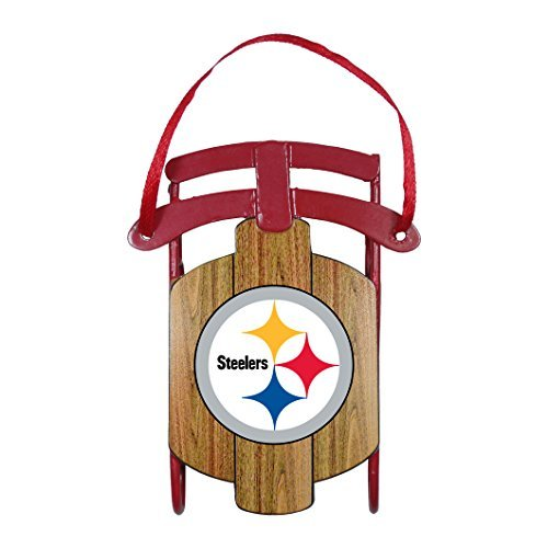 Pittsburgh Steelers Official NFL 3.5 inch Metal Sled Christmas Ornament by Topperscot