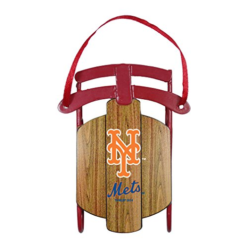 New York Mets – MLB Official 3.5″ Metal Sled Ornament