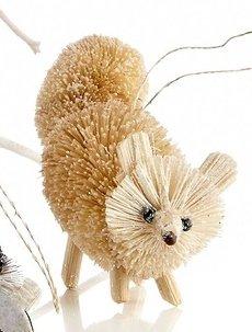 Martha Stewart Buri Bristle Brush Arctic Fox Christmas Ornament, Arctic Animals Collection