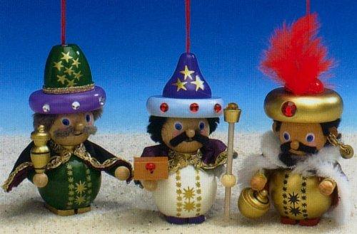 Steinbach 3 Wisemen Wood Christmas Ornament Set