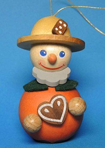 Gingerbread Seller Man German Wood Christmas Ornament
