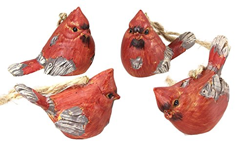 "Ganz Set of 4 2"" Cardinal Ornaments"
