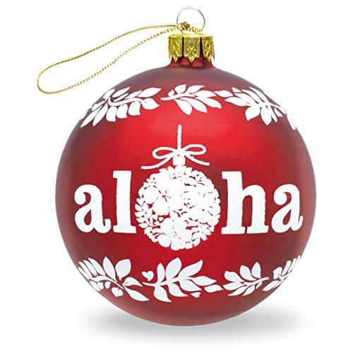 Island Heritage Words of Aloha 100mm Collectible Glass Hawaiian Ornament