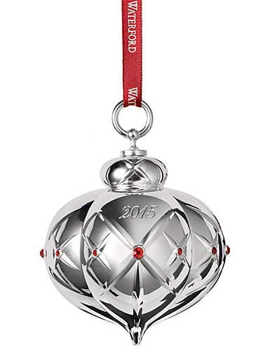 Waterford 2015 Lismore Ball Ornament, Dated 2015