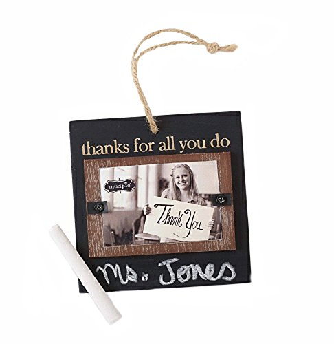 Mud Pie Teacher Chalk Ornament and Photo Frame