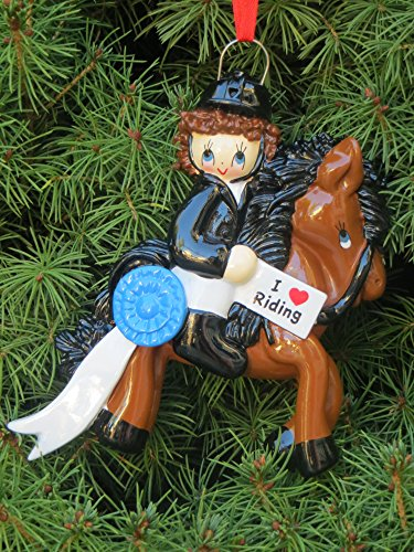 I love Riding Personalized Christmas Tree Ornament