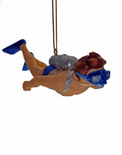 Tropical Aquatic Ocean Mr Diver Swim Ornament December Diamonds