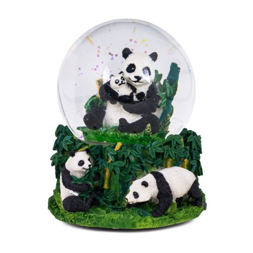 Panda Bear Bamboo Musical Snow Globe Water Ball