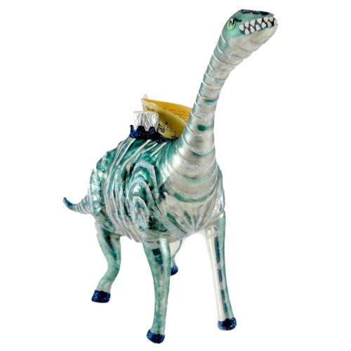 Christina's World LONG NECK BRONTOSAURUS Blown Glass Dinosaur Ornament ZOO906