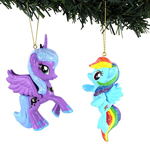 My Little Pony Kurt Adler Ornament Set Gift Boxed (Princess Luna & Rainbow Dash)