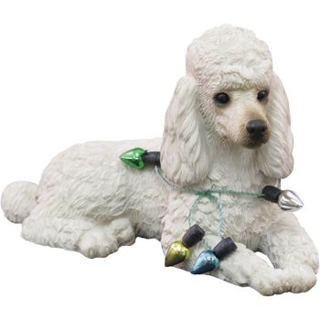Ornament Poodle, White