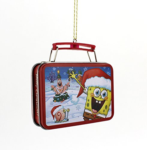 Spongebob Squarepants Kurt Adler Tin Box Ornament Gift Boxed