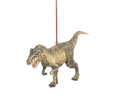 Tyrannosaurus Rex T-Rex Jurassic Dinosaur Resin Stone Christmas Tree Ornament