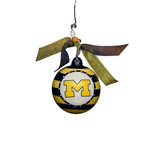 Glory Haus Michigan Stripe Ornament, 4-Inch