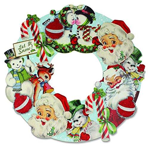 Bethany Lowe – Christmas – Retro Christmas Die Cut Wreath – RL2905