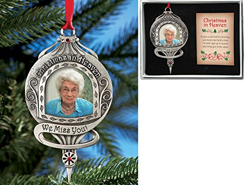 Christmas In Heaven Memorial Photo Ornament