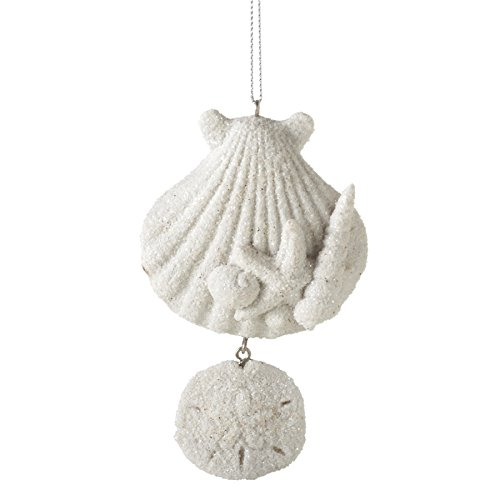 Sandy Shells Sand Dollar Resin Stone Christmas Tree Ornament