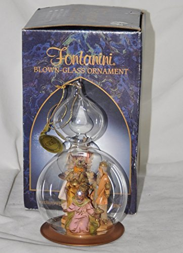 Fontanini Blown Glass Christmas Tree Ornament – Three Kings