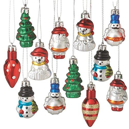 Mini Christmas Icon Polystyrine Christmas Ornaments Set of 12