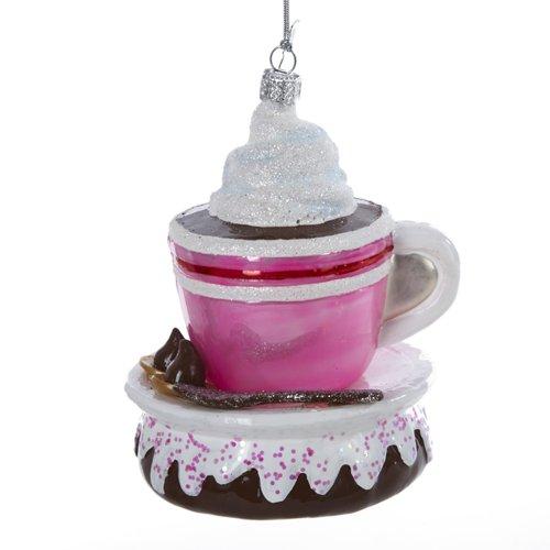 Kurt Adler 4-1/4-Inch Noble Gems Glass Hot Cocoa Ornament